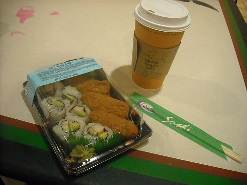 sushi and coffee